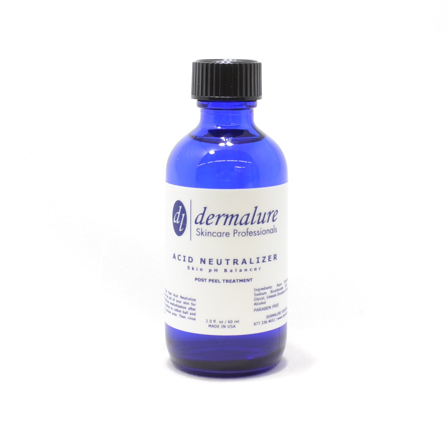 Acid Neutralizer Skin pH Balance - Helps Balance the Ph of Your Skin for the Safe and Effective Neutralization After Peeling 2oz. 60ml by Dermalure