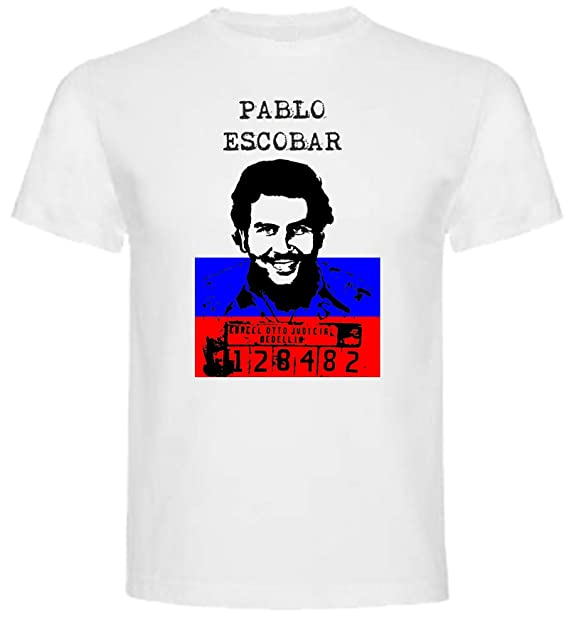 The Fan Tee Camiseta de Hombre Narco Plata o Plomo Escobar TV Drama Criminal