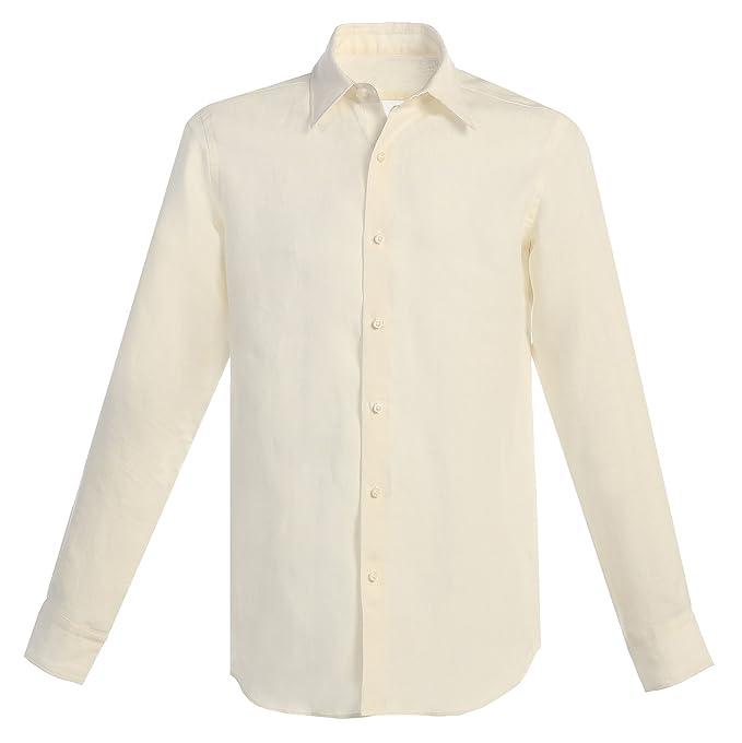 Amazon.com: De los hombres traje de lino (Camisa blanco ...