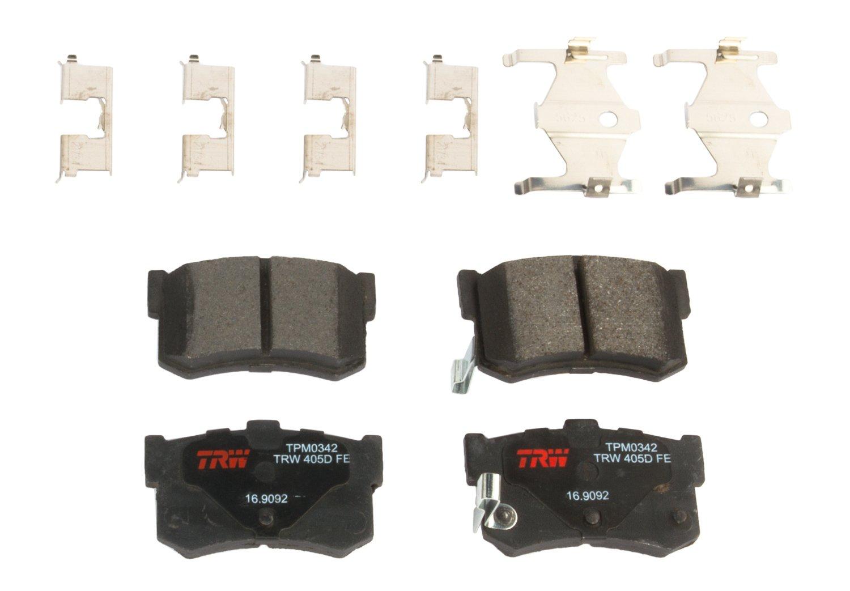 TRW TPM0342 Black Premium Semi-Metallic Rear Disc Brake Pad Set TRW Automotive