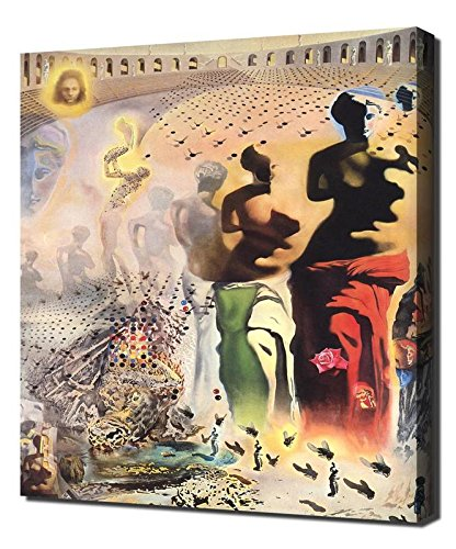 Lilarama Salvador Dali The Hallucinogenic Toreador Framed Canvas Art Print Reproduction