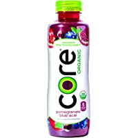 12-Pk CORE Organic 18 Fl Oz Pomegranate Blue Acai