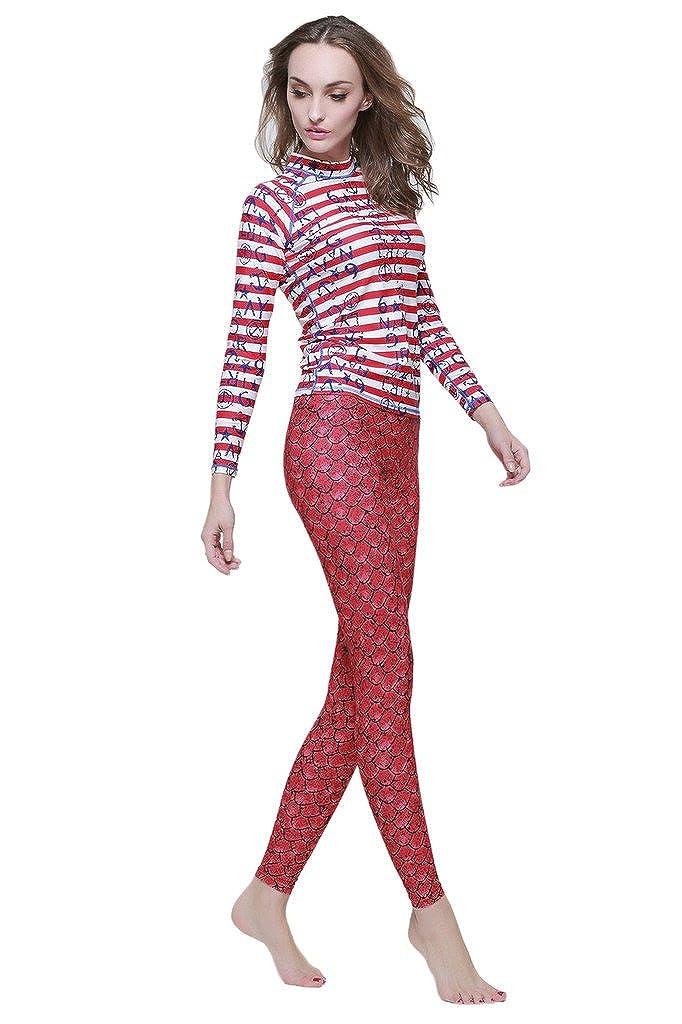 3ed164ebe8c3c9 Amazon.com: Lotsyle Fish Scale Mermaid Swimming Pants Swimwear Tights Swim  Leggings: Clothing