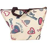 EQLEF® thermal insulation tote bag lunch bag, Borsa porta pranzo, impermeabile Borsetta bella borsa in tessuto poliestere stampa Pranzo al sacco Pranzo picnic sacchetto (amour)