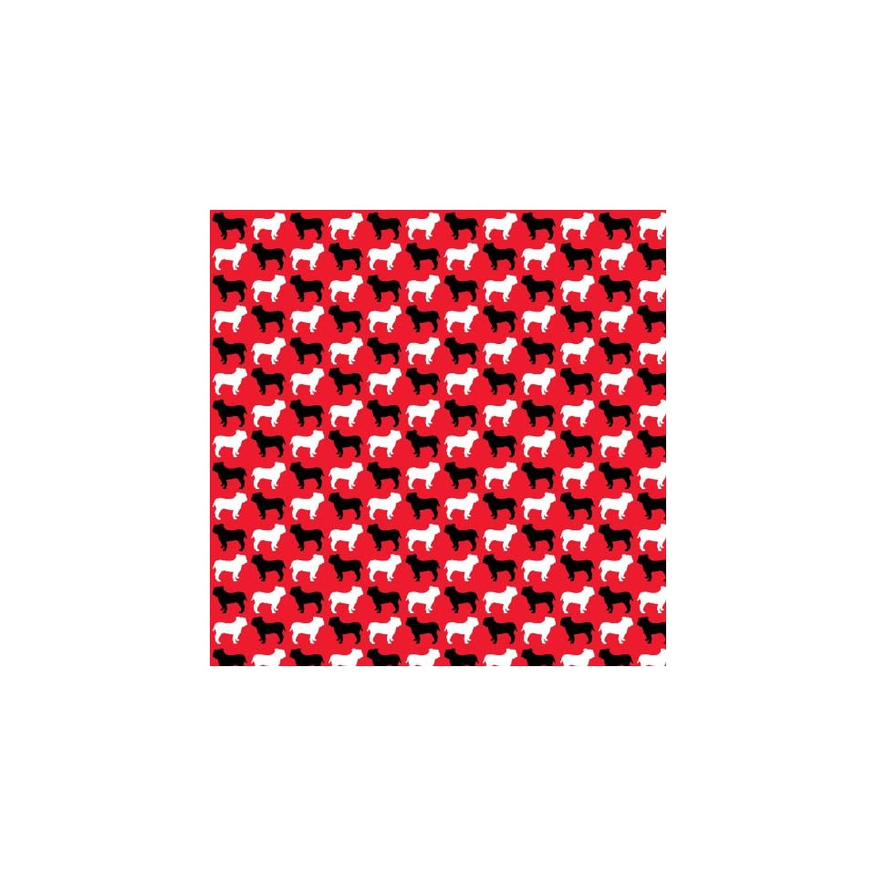 BULLDOG PATTERN RED, BLACK & WHITE Vinyl Decal Sheets 12x12 x3 Great for Cricut or Silhouette Crafting