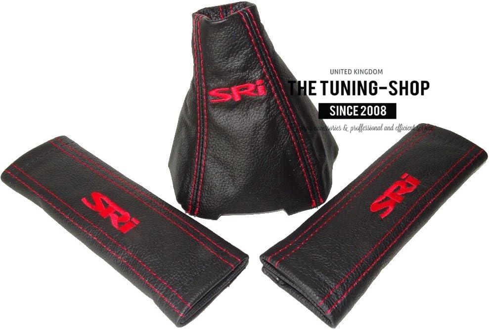 2005-14 Soufflet de levier et 2 x couvertures de ceinture de s/écurit/é Coussinets Cuir
