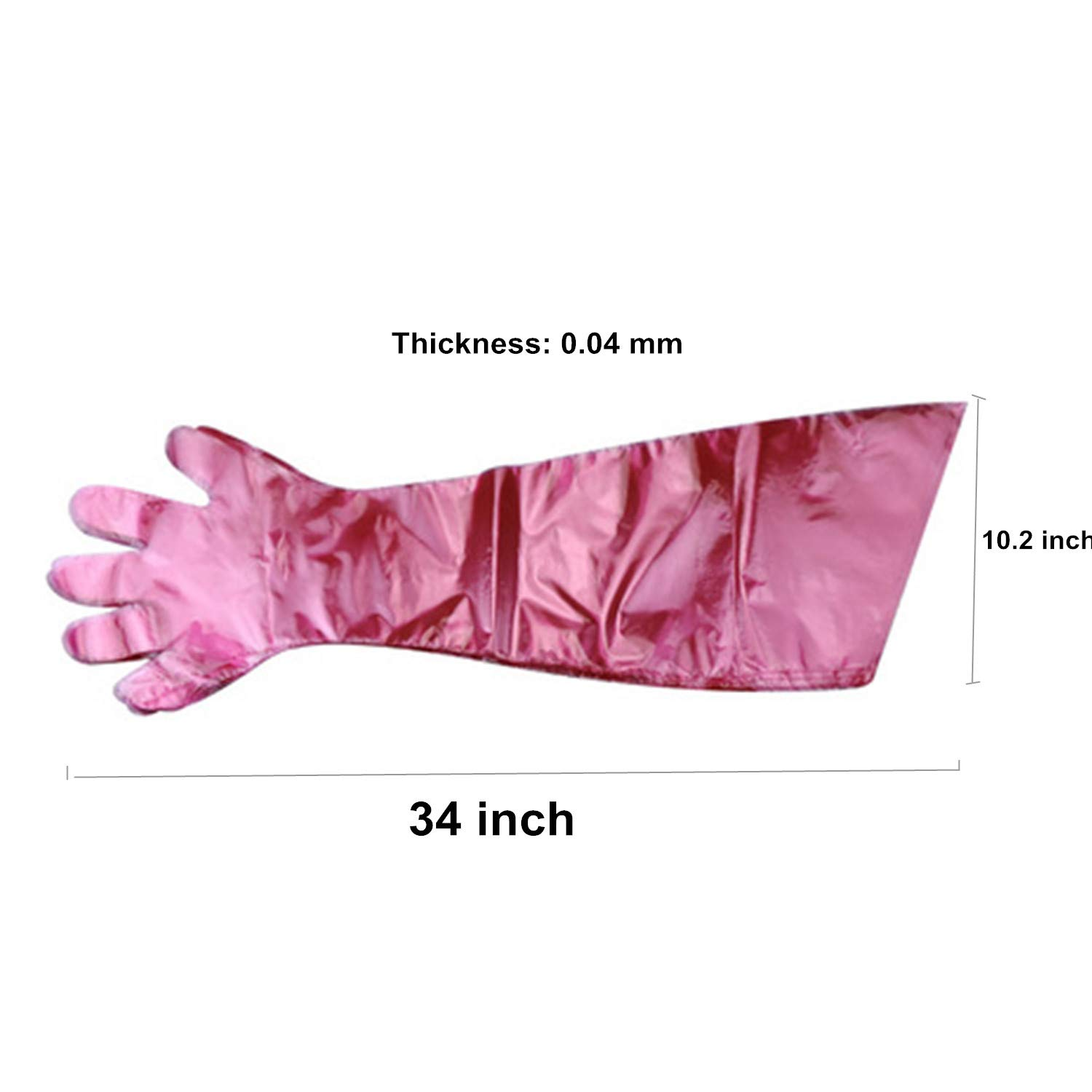 50 Pcs Disposable Soft Plastic Film Gloves Long Arm Veterinary Examination Artificial Insemination Glove by PPX by PPX (Image #2)