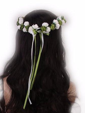Kopfband Band Einfache Grunen Blumen Und Bandern Fur Frisuren Braut