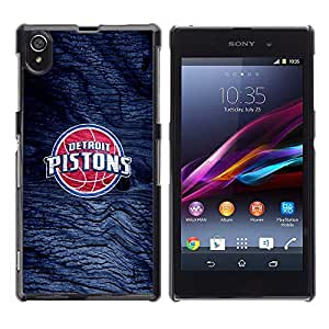 Detroit Piston Basketball Caja protectora de pl¨¢stico duro Dise?ado King Case For Sony Xperia Z1 L39