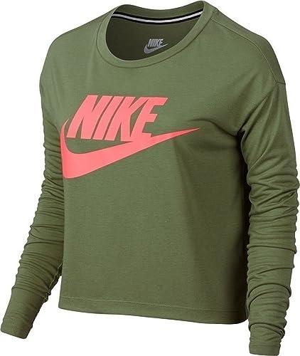 6453bc90d00ae NIKE Essential Long Sleeve Crop Top Womens