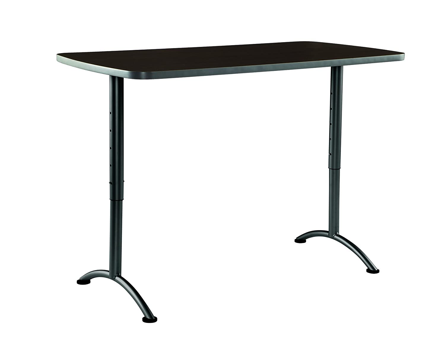 "Iceberg ICE69314 ARC 5-foot Adjustable Height Rectangular Conference Table, 30"" x 60"", Walnut/Gray Leg"