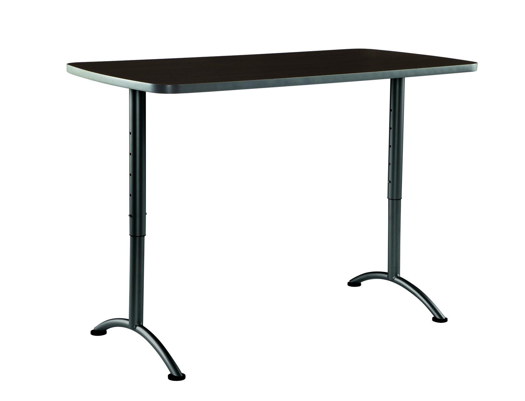 Iceberg ICE69314 ARC 5-foot Adjustable Height Rectangular Conference Table, 30'' x 60'', Walnut/Gray Leg