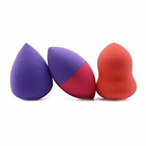 BK 3 Piece Ultra Makeup Blender Sponge Set - Make Up and Cosmetic Powder, Foundation, Concealer Applicator