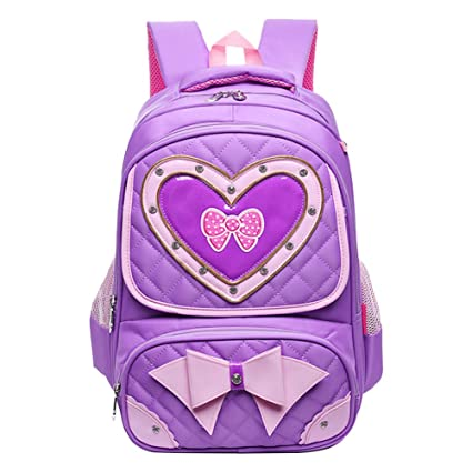 e04a676ccd Moonwind Princess Quilted Bow Kids School Backpack for Girls Book Bag  Schoolbag (D6612