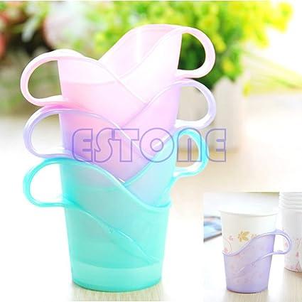 pink-day plástico colorido desechables vasos de papel soporte, calor y frío taza térmica