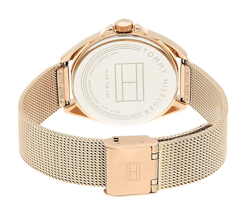Amazon.com: Tommy Hilfiger Womens Casual Sport Quartz Watch with Strap, Rose Gold, 16 (Model: 1781756: Watches