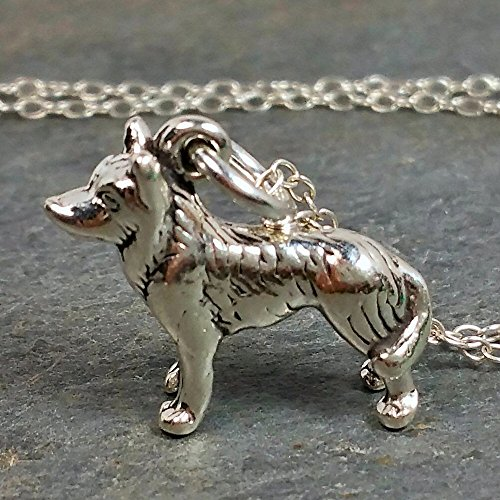 - Siberian Husky Necklace - 925 Sterling Silver