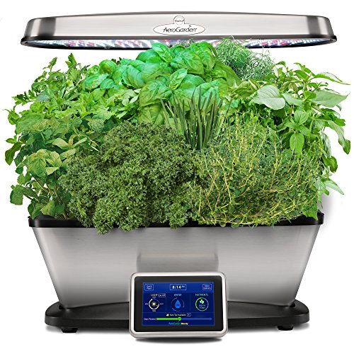 $235.00 Hydroponics Kits AeroGarden Bounty Elite with Gourmet Herb Seed Pod Kit, Stainless 2019