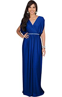 f30415d2b39 KOH KOH Womens Long Dolman Sleeve Wrap V-Neck Cocktail Bridesmaid Maxi Dress