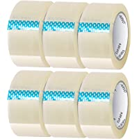 Plakband transparant 6 rollen | 48 mm x 60 m, pakketplakband, verpakkingstape transparant voor verhuisdozen…