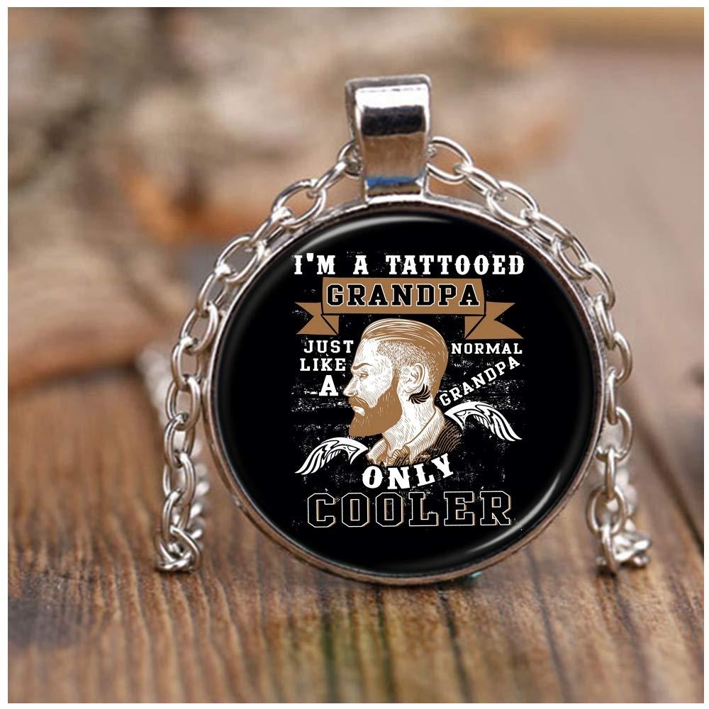 DLAWNECK - Collar de níquel con Texto I Love Tattooed, diseño de ...