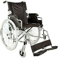 Royal - Rollstuhl mit Sitzfläche 46cm, Stoff schwarz