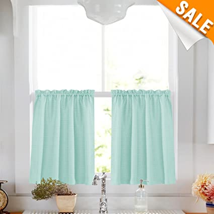 36 inch window curtains live love baby blue short curtains for kitchen 36 inch length water repellent window curtain set bathroom amazoncom