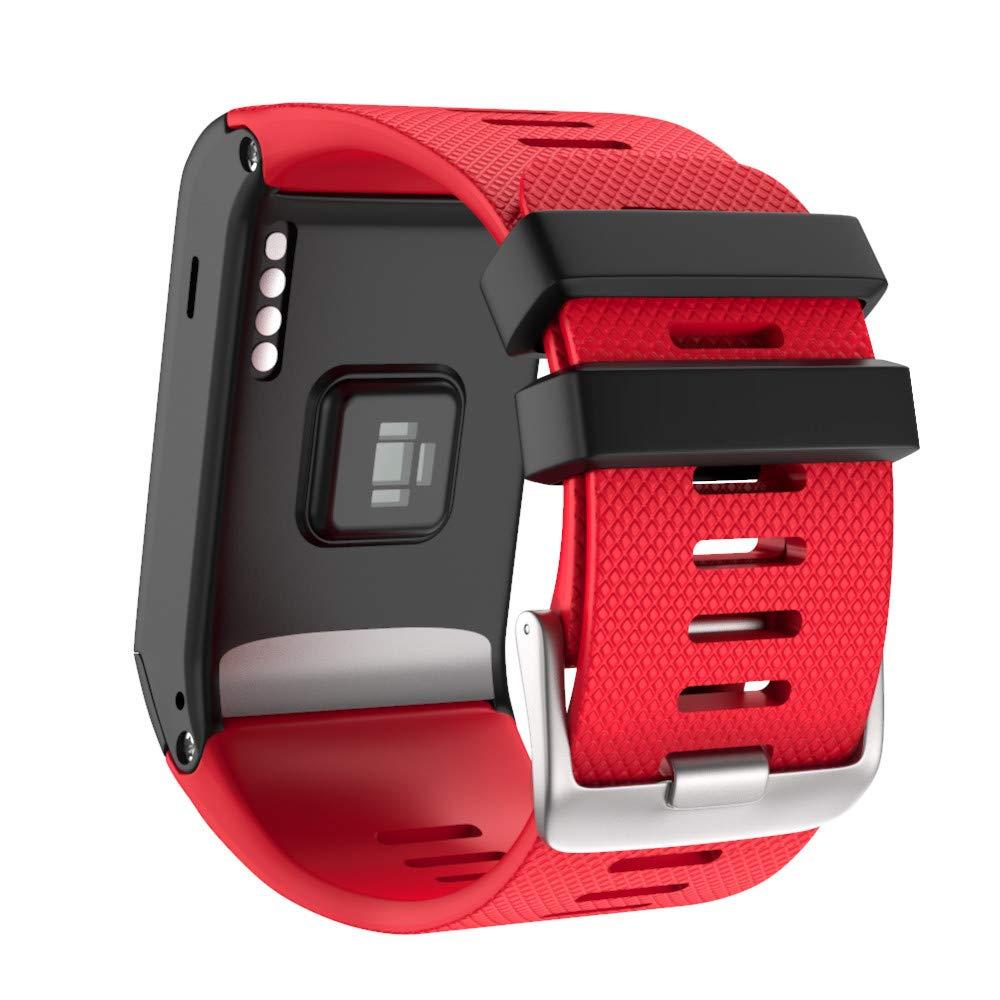 NotoCity Pulsera Compatible con Garmin Vívoactive HR Suave Silicona Correa de Repuesto für Garmin Vívoactive HR Sport GPS Smartwatch