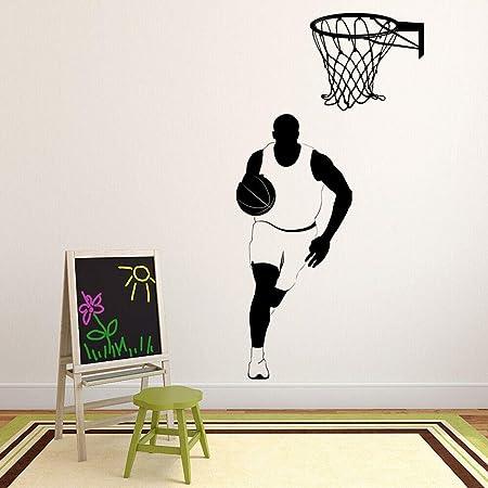 jiushivr Calcomanía de Pared de Deportes de Baloncesto Sala ...