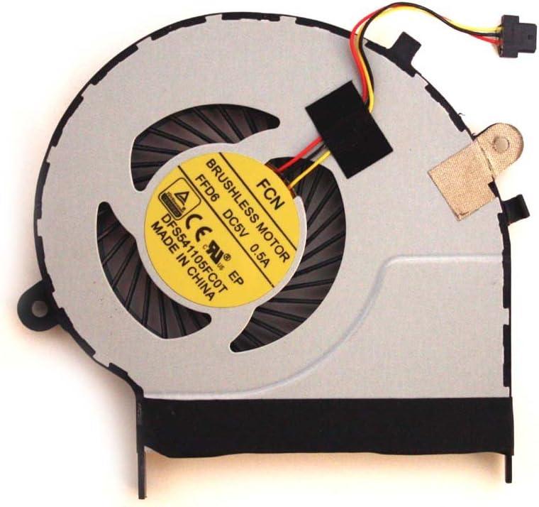 Power4Laptops Replacement Laptop Fan for Toshiba Satellite L50D-BBT2N22, Toshiba Satellite L50D-BST2NX1, Toshiba Satellite L50D-BST2NX2, Toshiba Satellite L55-B5237, Toshiba Satellite L55-B5267