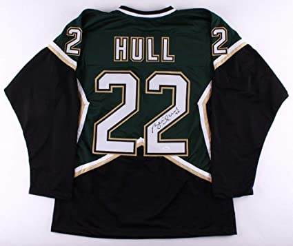 pretty nice 472e2 f87f9 Brett Hull Autographed Signed Stars Jersey - JSA Certified ...