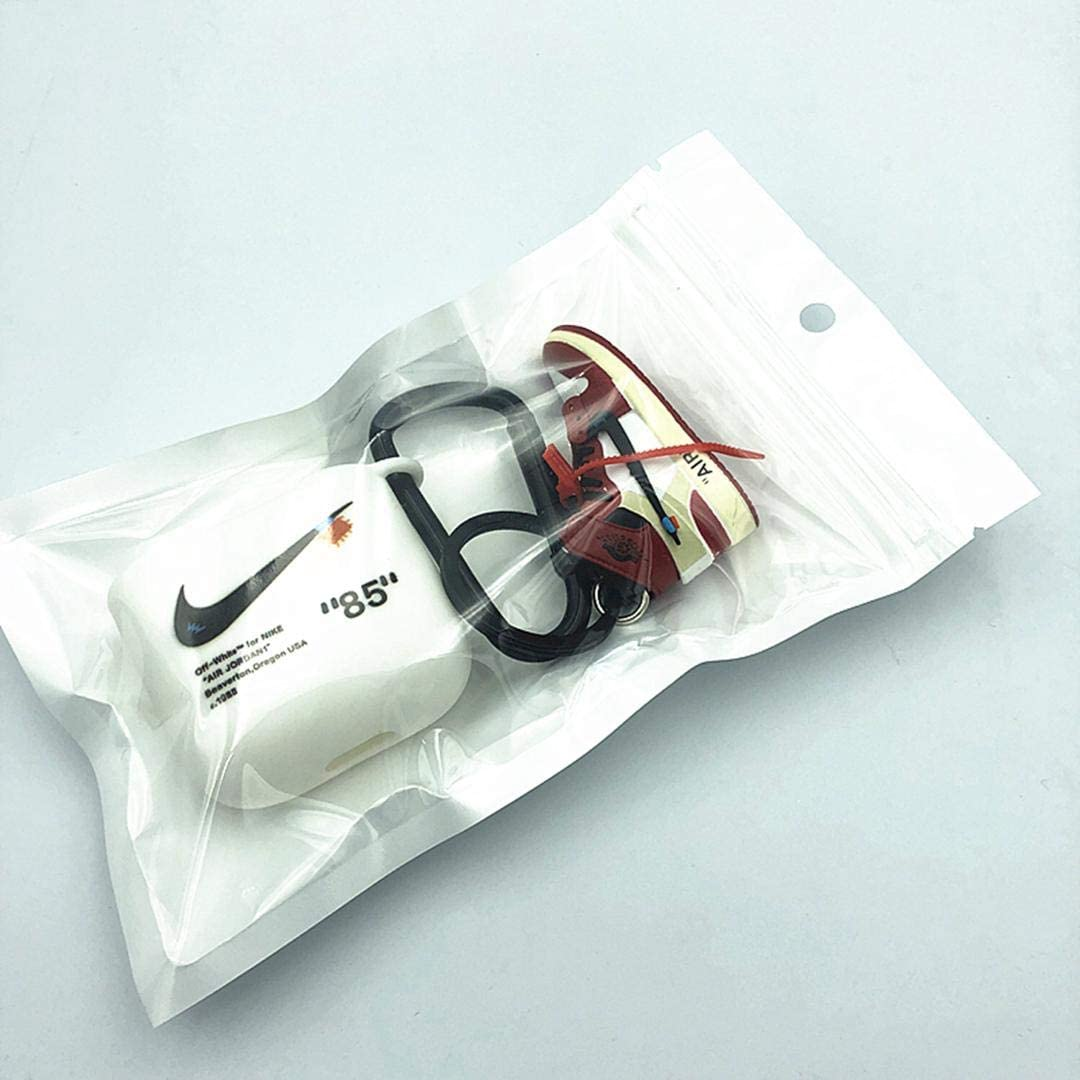 Carcasa Protectora de TPU para Auriculares Hypebeast para AirPods de Apple inal/ámbricos 1 y 2 EarPods con Mini Zapatillas 3D