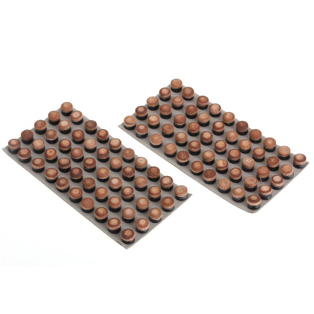100 punte per stecche da biliardo, di ricambio, canna in cuoio, 10 mm, con viti