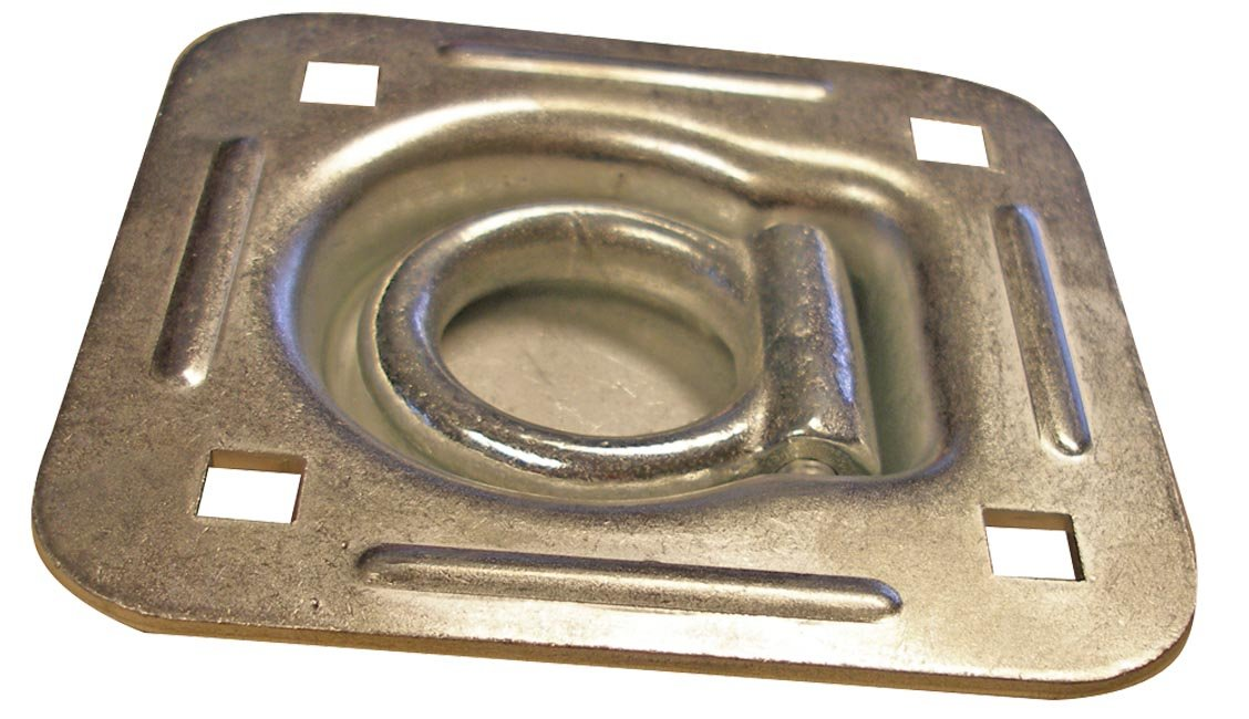 Erickson 59114 5000 lbs Load Capacity Square 4-Bolt Recessed Anchor Ring EK59114