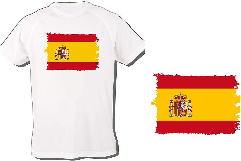 MERCHANDMANIA Camiseta Bandera ESPAÑA Pais Unido Tshirt: Amazon.es ...