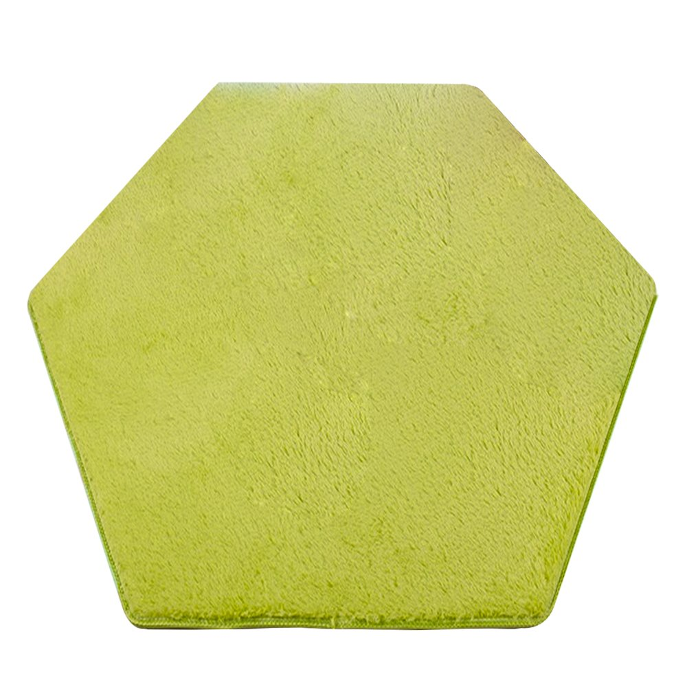 WERSHOW Hexagon Coral Pad Mat for Princess Castle Playhouse for Girls Children Play Tent Indoor and Outdoor Fun(Green)