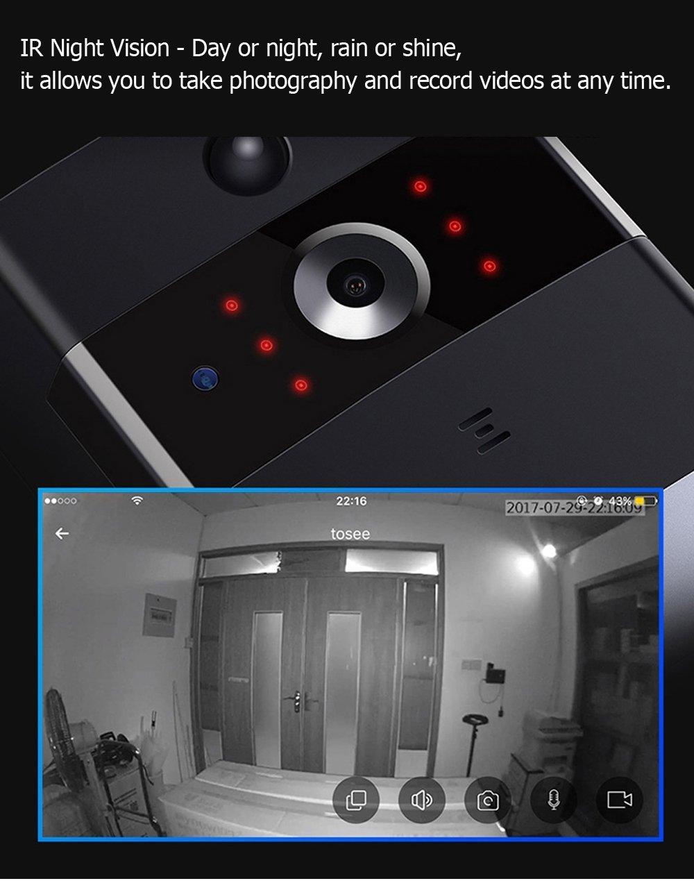 XIAOLONGY Alarma Casera WiFi Elegante Video Timbre Video ...