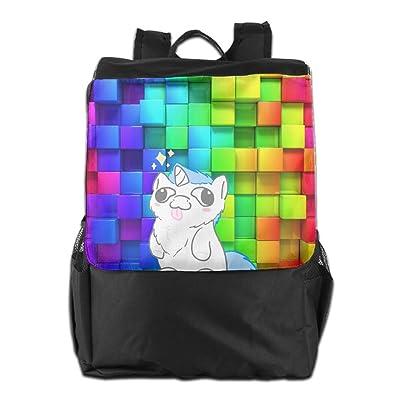 Believe Ddspp Rainbow Unicorn Cat Outdoor Backpack Rucksack School Bag