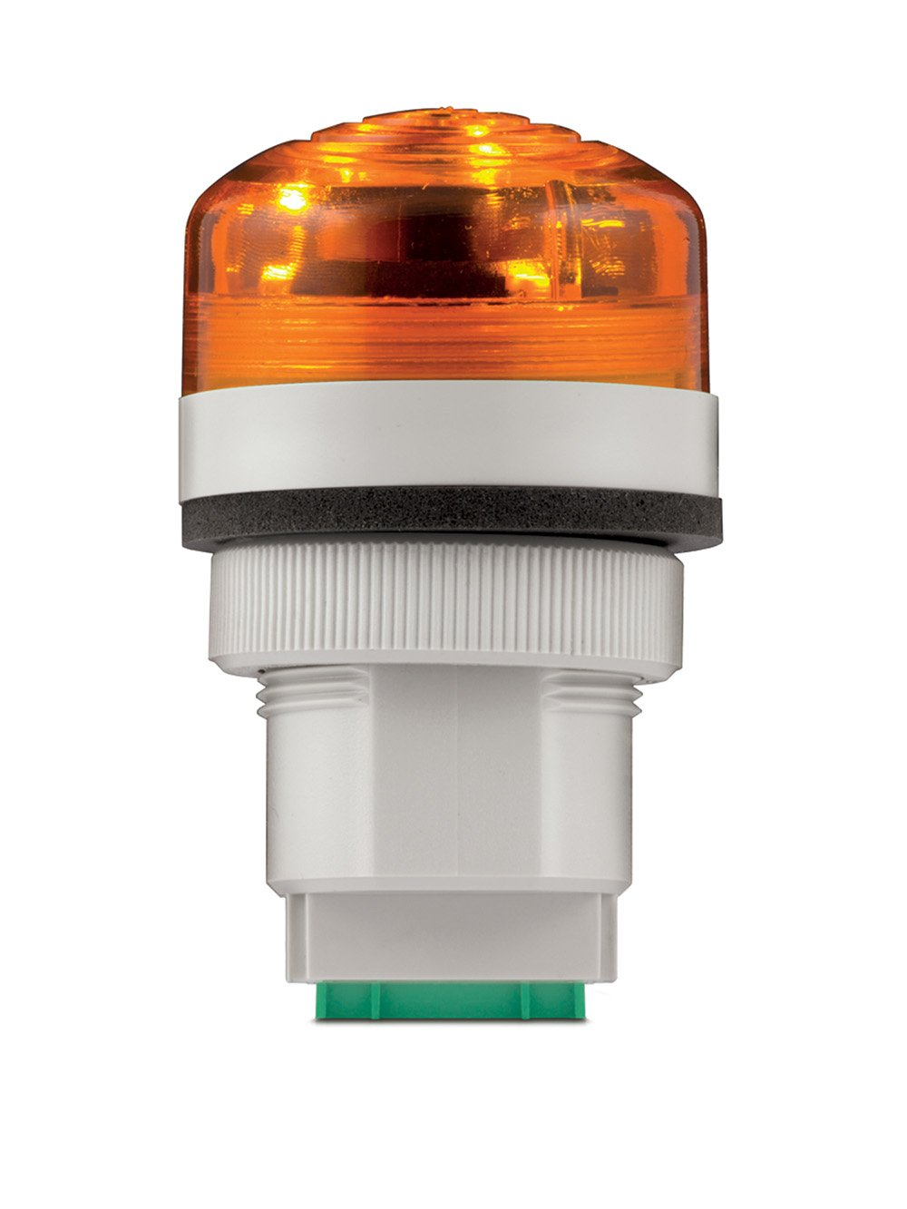 Federal Signal PMC Panel Mount Multifunctional Audible & LED Visual Combination Sounder, 48-240VAC, Amber