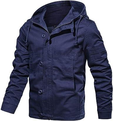 Abrigos para Hombre, BBestseller Chaquetas para Algodón Lavado Jacket Parka Otoño Invierno Pullover Sweatshirt Cazadora Outwear: Amazon.es: Ropa y accesorios