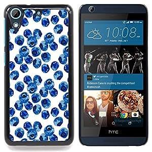 """For HTC Desire 626 Case , Extranjero Cartel de la flor de la planta Blue Planet"""" - Diseño Patrón Teléfono Caso Cubierta Case Bumper Duro Protección Case Cover Funda"""