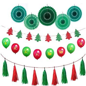 CA Navidad Decorativa Juego de Globo de Feliz Navidad designar Sequin de caseta de ballone para Fiesta de Navidad de decoración, 、, B: Amazon.es: Hogar