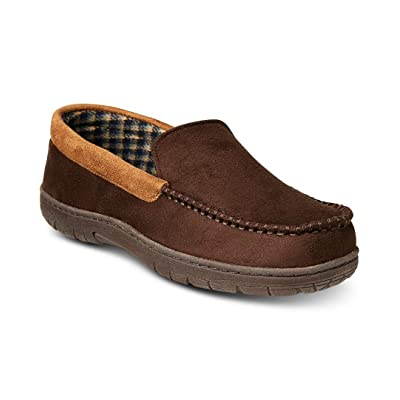32 Degrees Men's Shoes Large 9.5-10.5M Moccasin Slippers: Clothing