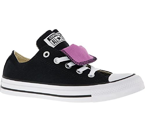 eae398d1b004 Converse Black   Purple Double Tongue OX Black IRIS Orchid White Low Cut  Trainers Sneakers UK 3 EU 35  Amazon.co.uk  Shoes   Bags