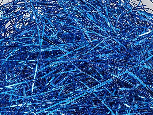 Pack of 1, Metallic Royal Blue Veryfine Cut 10 Lb Spring-Fill Shred Great for Baskets, Boxes, Containers or Bags by Generic