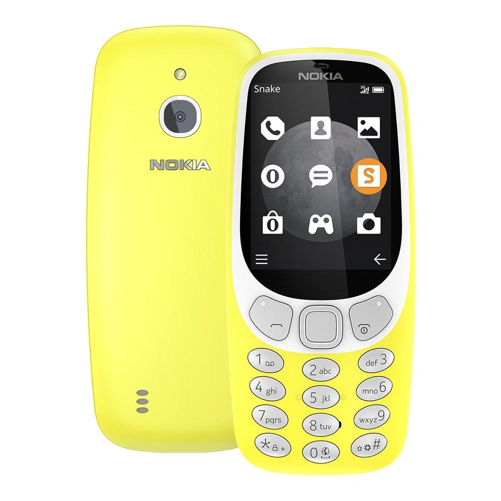 Nokia 3310 3G 2017 (TA-1022) 128MB 2.4-inches Factory Unlocked - International Stock No Warranty (Yellow)
