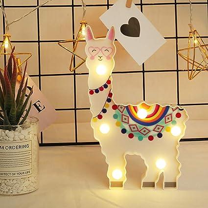 Gaddrt - Lámpara colgante decorativa de LED con forma de alpaca ...