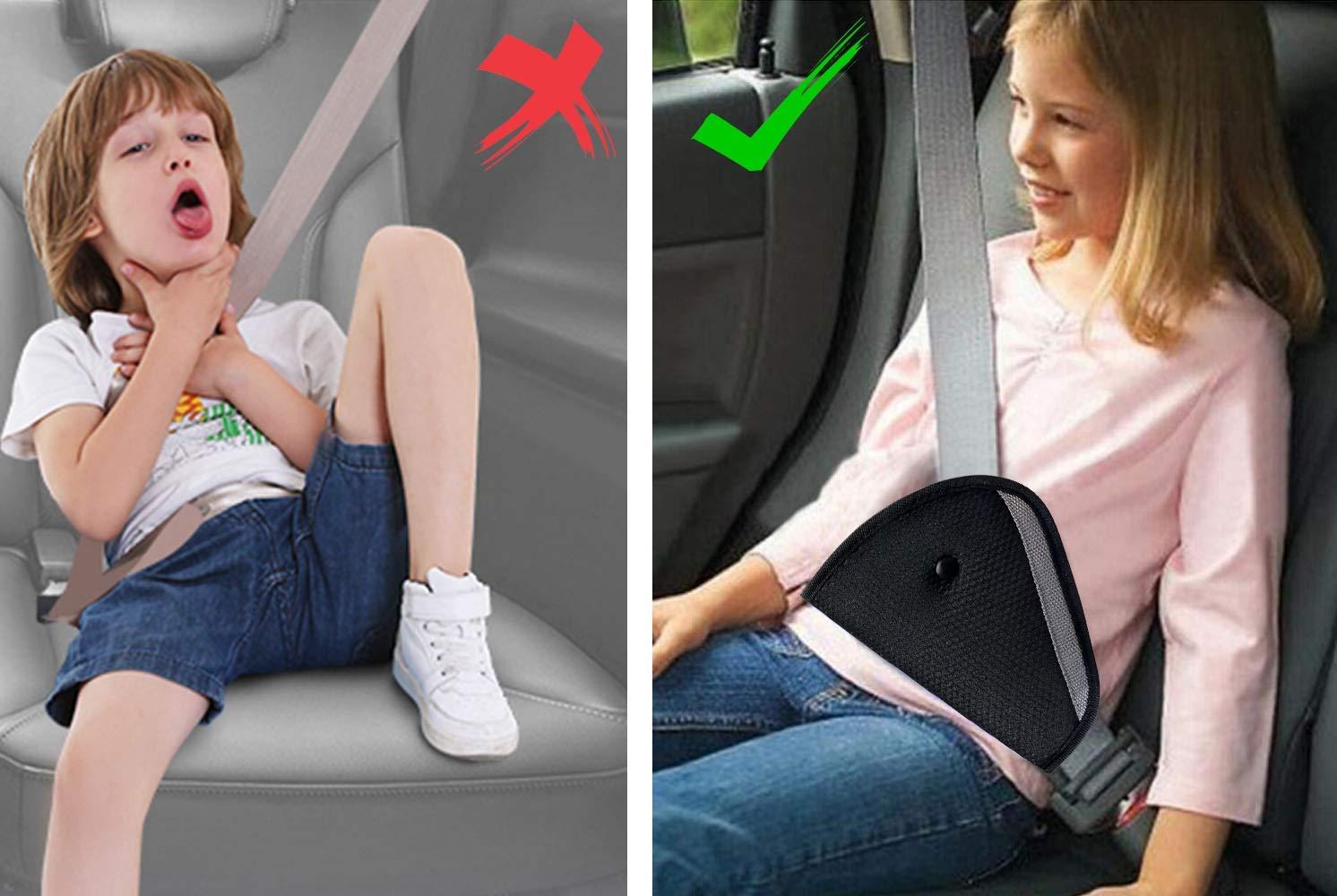Lascia che il Bambino Dorma pi/ù Comodamente in Macchina Proteggere le Vertebre Cervicali dei Bambini Cuscino Cintura Sicurezza Bambini JIOUDI 3 Pezzi Accessori Seggiolini Auto per Bambini