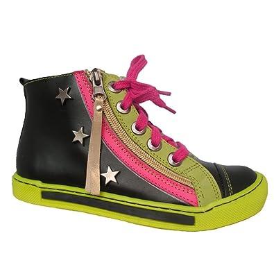 95e6ce5f2cfc6d Mädchen Kinder Knöchelschuhe Halbschuhe Sneakers Kinderschuhe Leder  Schuhgröße EUR 32