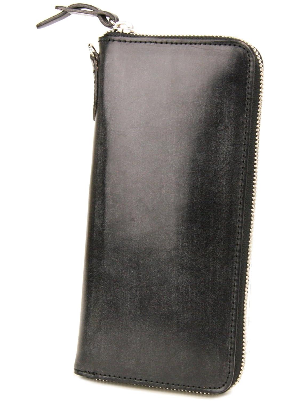 [コルボ] CORBO. 長財布 1LD-0223 アコーディオン型 ラウンドファスナー フェイス ブライドルレザー face Bridle Leather B0044DDX80  ブラック